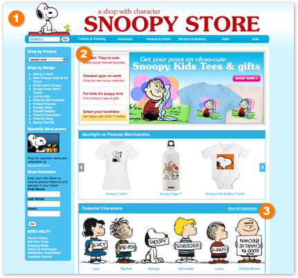 Snoopy Store example